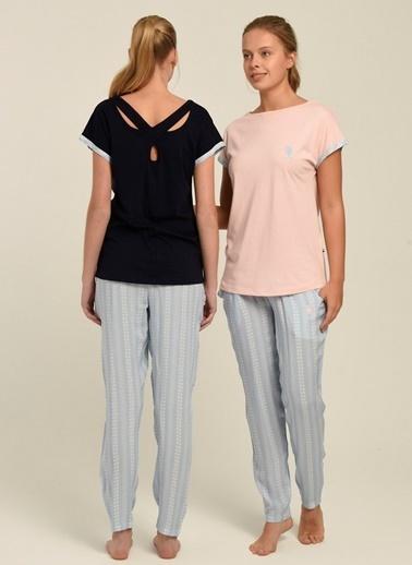 U.S. Polo Assn. Pijama Takım Somon